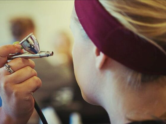 Applying Airbrush Makeup