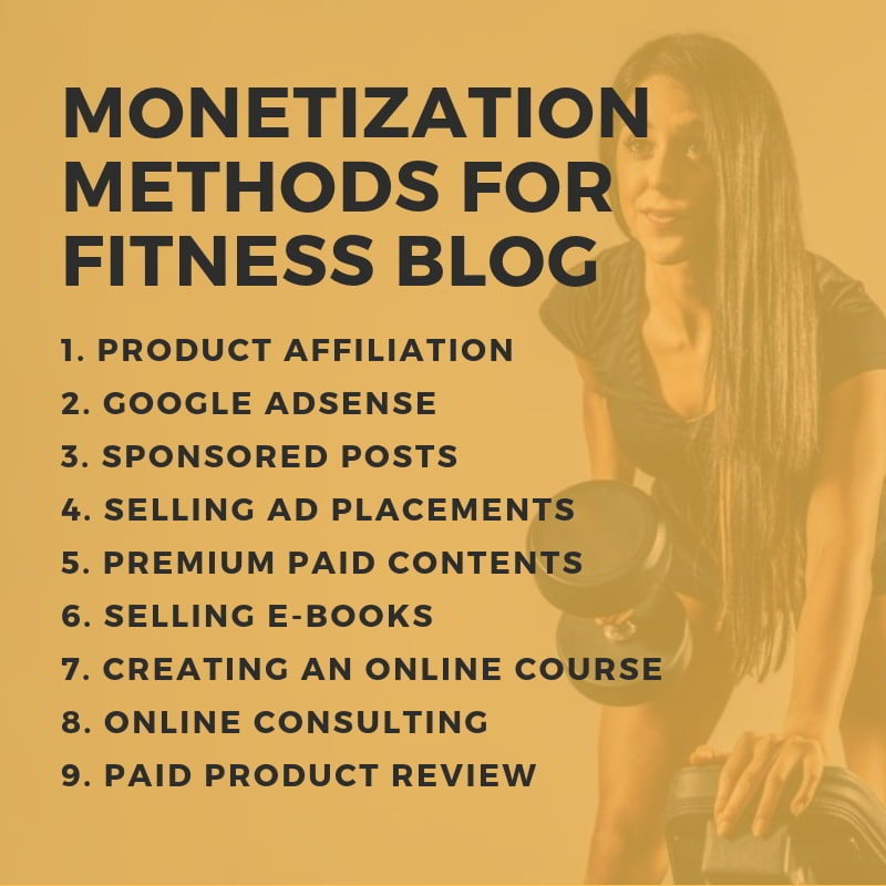 9 Monetization Methods for Fitness Blog