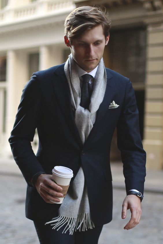 Formal Suit with Scarves