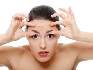 reducing deep wrinkles in forehead