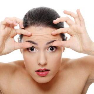 reducing deep wrinkles in forehead