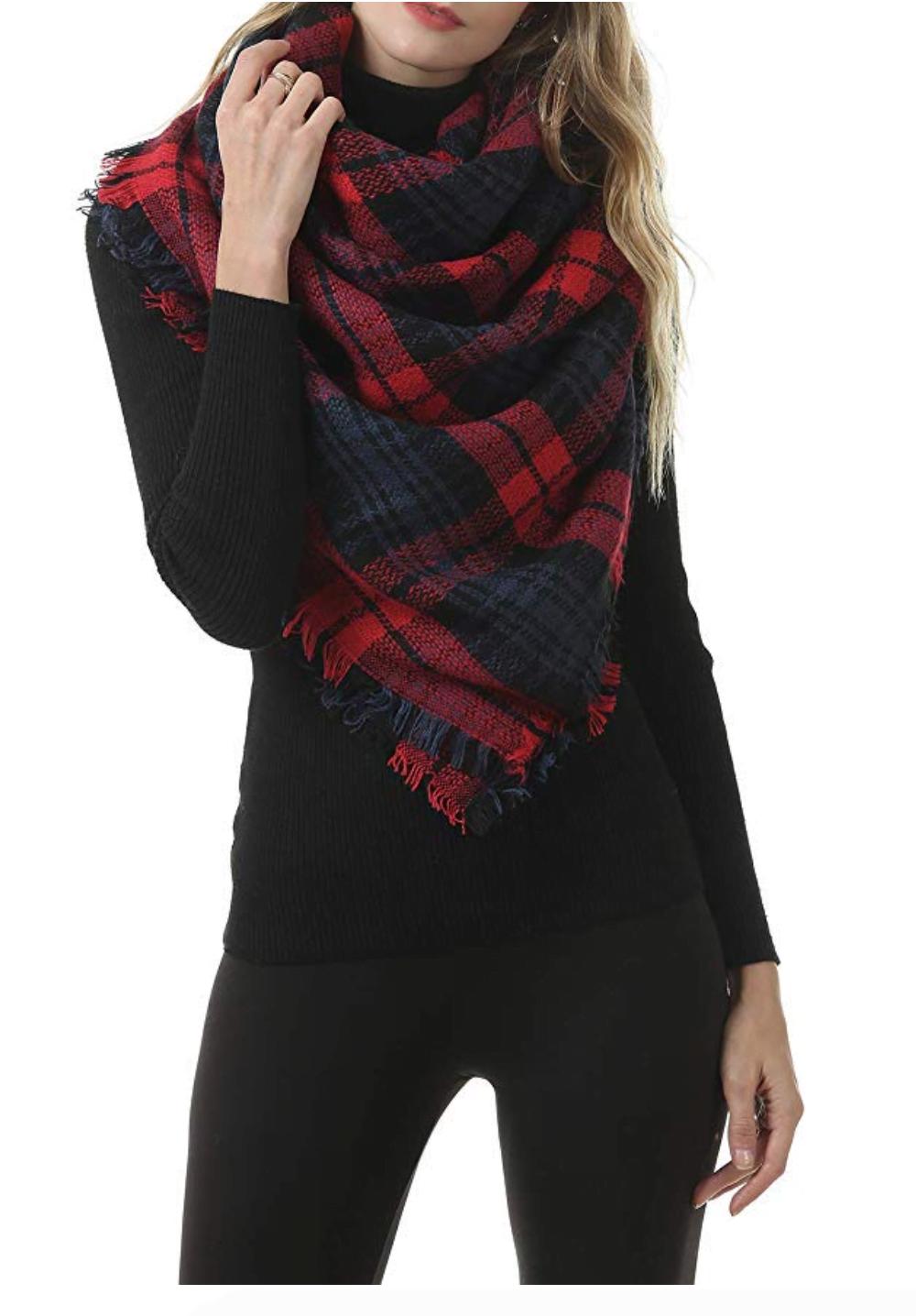 infinity loop with blanket scarf