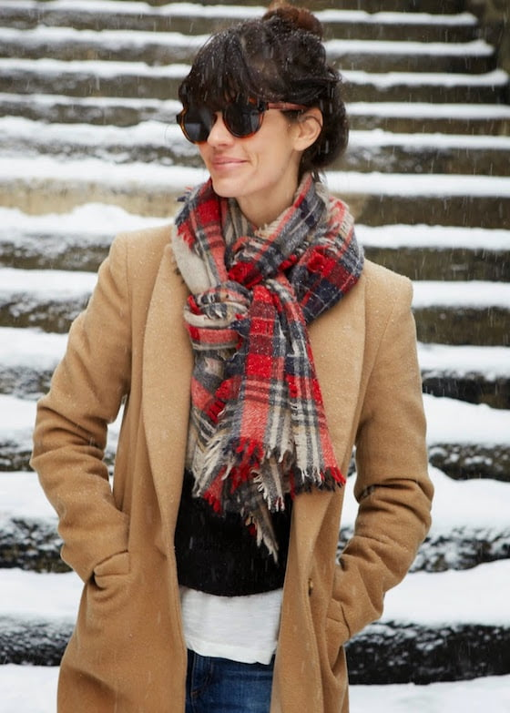 knotted scarf tie